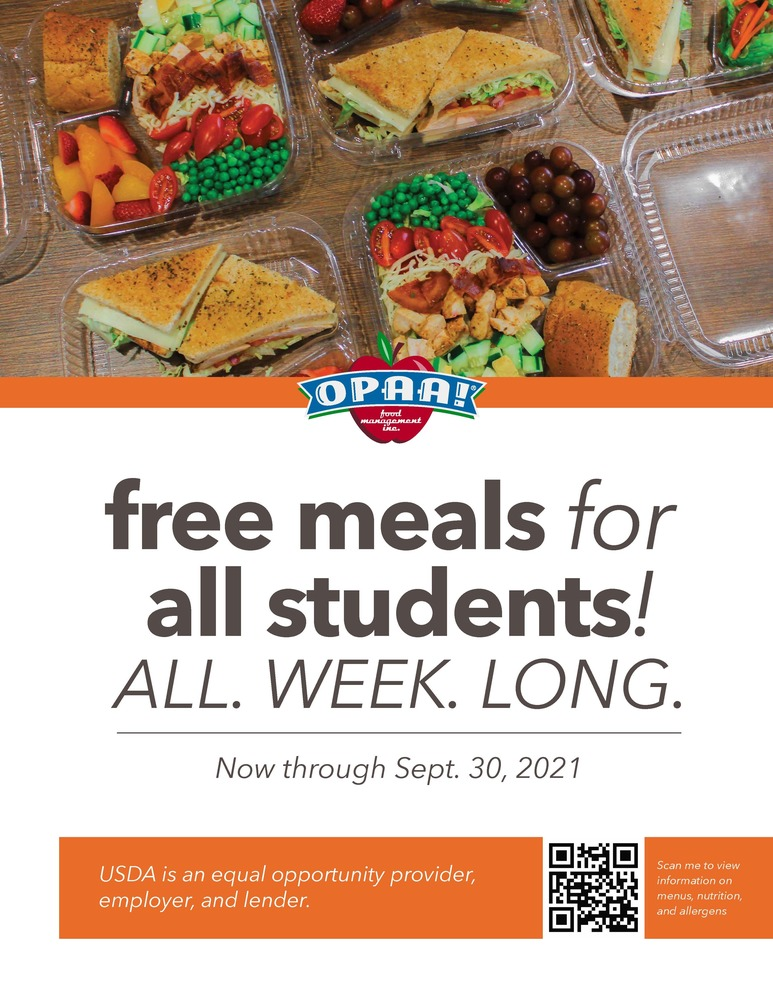 OPAA Free Meals for All Students!